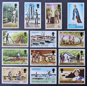 1977-81 Pitcairn Island Decimal Stamps - British Colony Definitives - Set 13 MNH