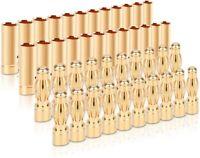 20 Paar 4mm Gold Banana Bullet Stecker Stecker männlich weiblich für RC Batterie
