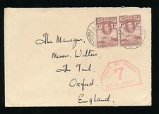 GOLD COAST WW2 CENSOR 1940 to OXFORD 2d...SIGNED by SENDER TOM HINDLE ENCHI ADC