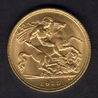 Australia.  1915 Sydney - Half Sovereign.. Unc/BU - Full Lustre