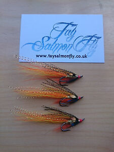 3x Underghillie Size 10 Double Hook Salmon Fishing Flies NEW