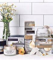 Dead Sea Collection Collagen Face Serum,Night Cream,Day Cream Christmas Gift Set