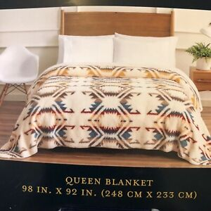 """Pendleton Home Collection Queen Blanket 92""""X98"""" White Sands Multi"""