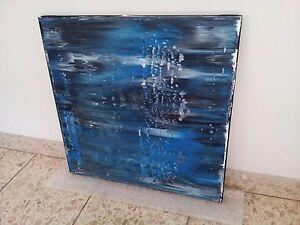 Abstrakte Bilder abstraktes Bild Kunst Abstrakt Rakeltechnik Steven XXL 0223