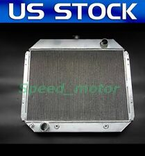 Polished KKS 3 ROWS ALUMINUM RADIATOR 1955 1956 CHEVY BELAIR BEL AIR 6CYL CORE