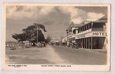 VINTAGE POSTCARD RPPC WHARF STREET, TWEED HEADS NSW 1900s