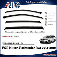 AD WEATHERSHIELD WINDOW VISOR SHIELD SHIELDS FOR NISSAN Pathfinder R52 2013-2018