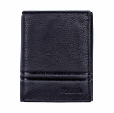 Fossil ML4006001 Wilder Men's Black Leather Trifold ID 6 Card Slot Wallet