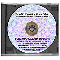 SUBLIMINAL LEARN RUSSIAN CD- LANGUAGE SLEEP LEARNING AID TO READ WRITE & SPEAK