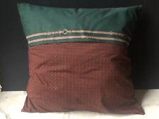 *RARE RALPH Lauren WILKES FOULARD Equestrian EURO Pillow SHAM Vintage Red Green