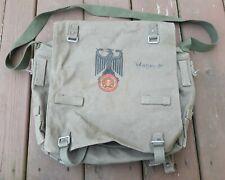 Vtg. German Army Military Canvas Shoulder Bag Bread Bag