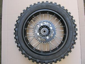 "Pit Bike dirt SDG COMPLETE REAR Wheel, sprocket, disc 12"" 15mm bearings"