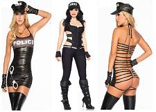 Aimerfeel sexy female  officer/police Halloween fancy dress black jumpsuit