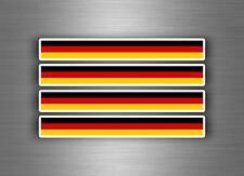 4x Pegatina autoadhesiva coche motorrad stripes bandera tuning alemania alemán