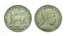 pcc1600_1) MENELIK 1/2 Birr 1889  Etiopia - Ethiopia  Silver