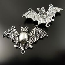 10pcs Flying Bat Look Silver Color Pendants Halloween Decorations Crafts Finding