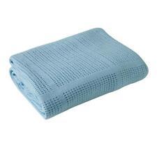 Clair de Lune Super Soft Cellular Blanket for Prams & Cribs (Blue)