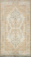 Vegetable Dye Authentic Oushak Turkish Area Rug Hand-knotted Kitchen Carpet 4x6