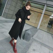 Winter Warm Women Girl Wool Lapel Long Coat Trench Parka Jacket Overcoat Outwear