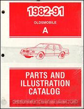 1990-1991 Oldsmobile Cutlass Ciera Parts Book Illustrated Catalog Cruiser