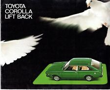 Toyota Corolla Liftback 1976-77 French Market Sales Brochure 1200 1600