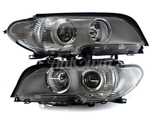 BMW 3 SERIES E46 1998-2006 HALOGEN HEADLIGHT LEFT And RIGHT SIDE ORIGINAL NEW