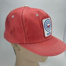 909ff26de03 Vintage CCPC SnapBack Cloth Trucker Hat Cap Patch K Products Made In USA Red