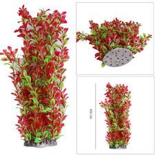 46cm Rose Green Plastic Water Aquatic Plant Aquarium Fish Tank Ornament Decor FR