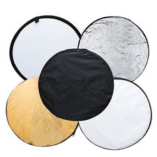 "24"" inch 5in1 Photography Studio Multi Photo Disc Light Reflector Collapsible UK"