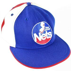 Retro Style New Jersey Nets NBA New Era Size 8 1/4 Fitted Hat New Deadstock