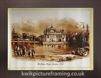 "Original First Print Of The Golden Temple Amritsar 1833 In Size - 18"" X 14"""