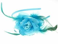 Bleu fleur paillettes alice band cheveux band bandeau