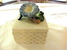 Fitz & Floyd Vintage Blue Flower Home Fragrance Cream Box Candle