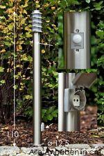 Segnapasso da giardino acciaio inox plastica bianco NEW sensore presa 92326