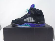 NIKE AIR JORDAN 5 RETRO GRAPE - BLACK / PURPLE UK SIZE 6 - USED  136027 007