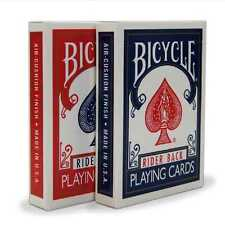 2 DECKS BICYCLE RIDER BACK STANDARD INDEX PLAYING CARDS 1RED/1BLUE free shipping