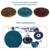 10pcs 2'' 50mm Sanding Roloc Discs Scotch Brite Roll Lock Surface Coarse Pads
