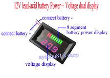 12V Lead-acid Batteries Storage Battery Power Voltage Dual Display Pannel Meter