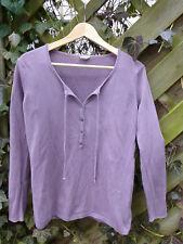 HESS NATUR Pullover aus reiner Bio-Baumwolle lila lavendel Größe 36/38 öko kbA