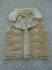 Baby Girl's Faux Fur/Suede Gilet from Matalan Age 18-23 Months
