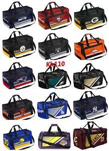 NFL,MLB Team Gym Travel Luggage Striped Core Duffel Bag 20x11x11