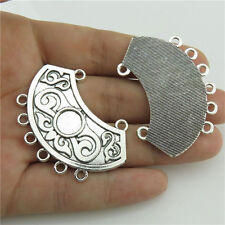 Alloy Chandlier Pendant Filigree Connector 89807 7Pcs Vintage Silver Findings
