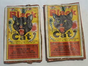 Black Cat Hong Kong, Repacked in Macau. lot of (2)