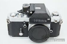 Nikon F2 35mm SLR Film Camera Body Chrome w/ DP-1 Viewfinder Prism, F-2 DP1