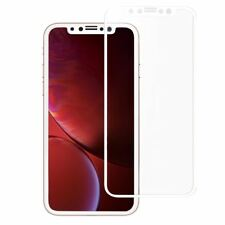 3D CURVED FULL TEMPERED GLASS LCD SCREEN PROTECTOR WHITE FOR iPHONE 11 XR