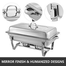6Pack Stainless Steel Chafer Chafing Dish BuffetRestaurant Service Warm TraySet