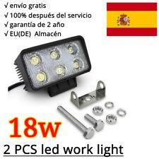 2X 18W LED Faro de trabajo,luz de camiòn,Lámpara de inundación,focos offroad 12V