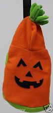 Halloween Martha Stewart Orange Pumpkin Hoodie Pet Dog Coat Size Medium NWT