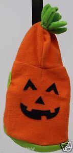 Halloween Martha Stewart Orange Pumpkin Hoodie Pet Dog Coat Size Medium NWT