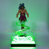 RARE Dragon Ball Z BROLY Power Up Led Light Action Figure Whole Set